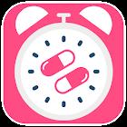 Contraceptive pill reminder icon