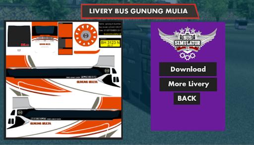 Livery Skin Bussid Gunung Mulia 5.0 screenshots 3