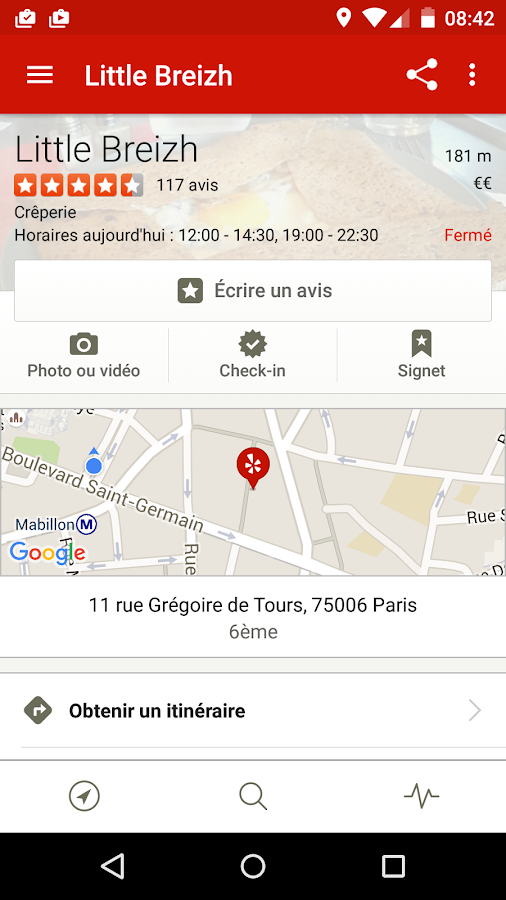 Yelp – Capture d'écran