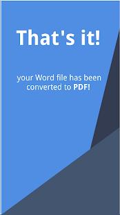 App Word to PDF - Convert DOC/DOCX to PDF Free APK for Windows Phone