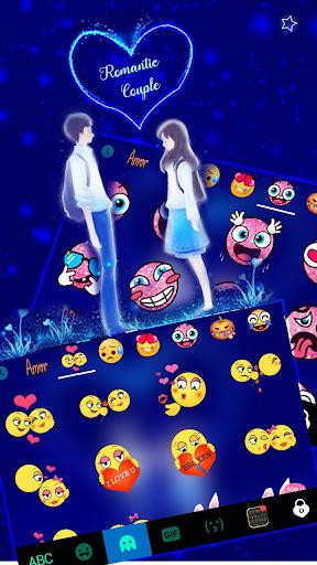 Romantic Love Keyboard Theme 1.0 screenshots 3