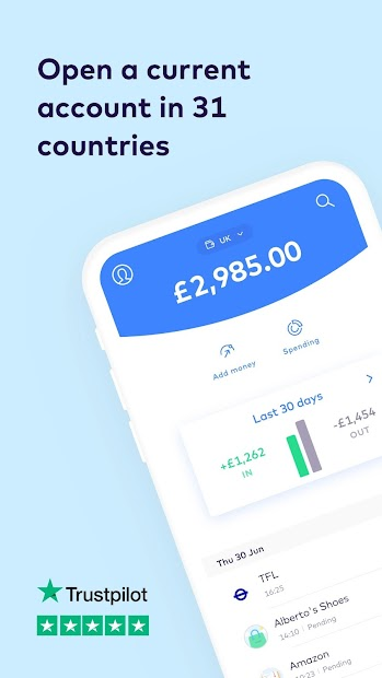 Monese - Current Account Android App Screenshot