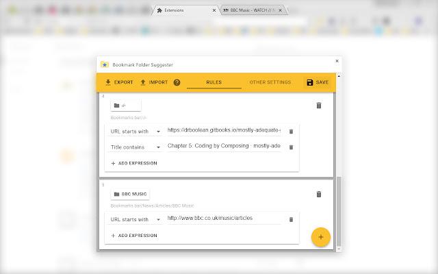Bookmark Folder Suggester