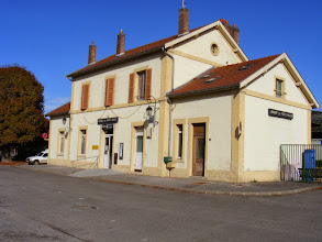 Photo: Sunday brings a train ride of close to an hour to La Ferte-Milon - a quiet town not often visited by foreign tourists - and its simple station.