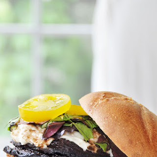 Red Wine Portobello Burger with Cashew Mozzarella