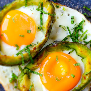 Eggs Baked in Avocado.