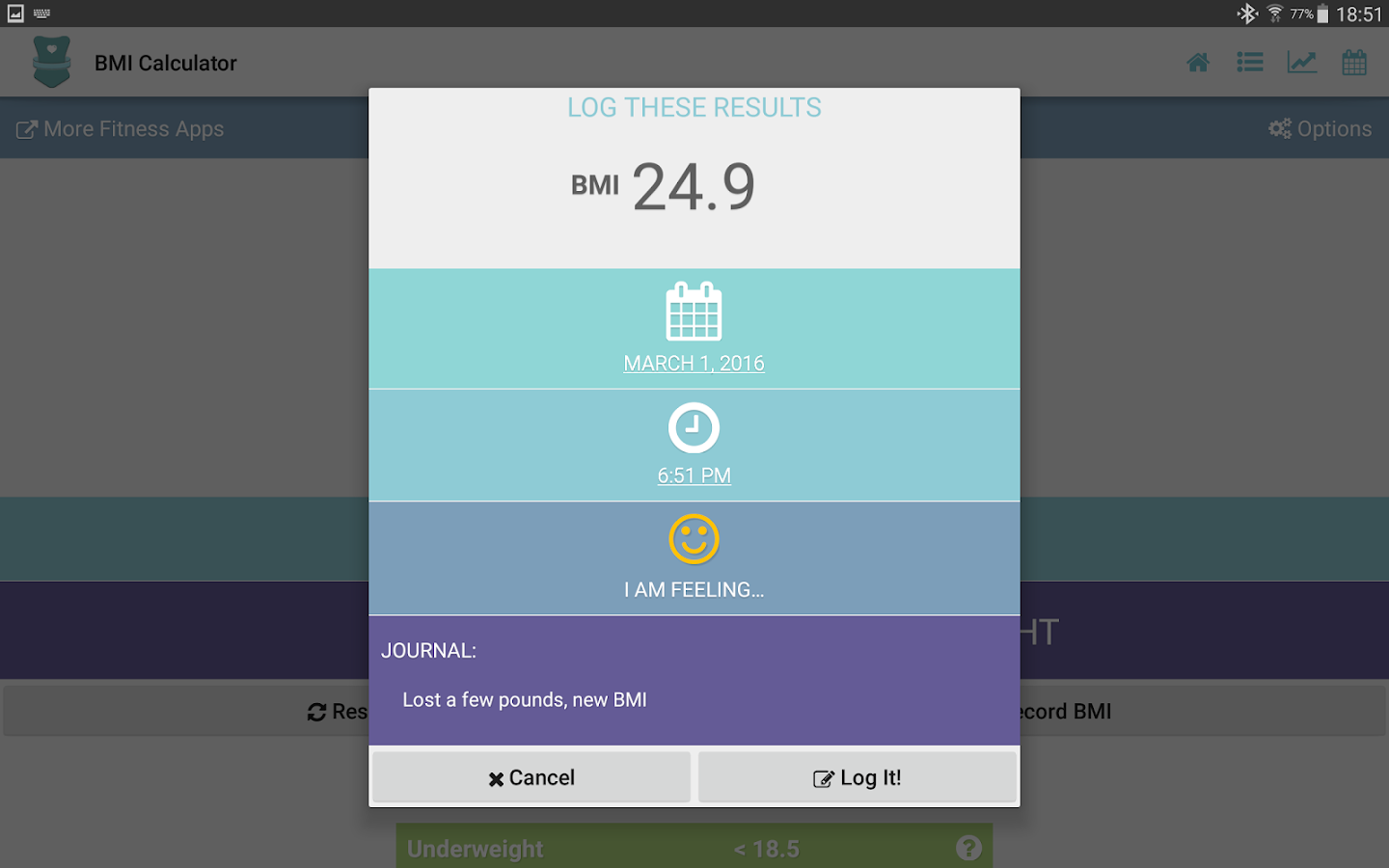 Bmi Calculator  Adult & Child Screenshot