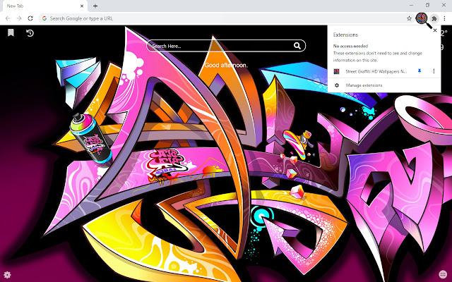 Street Graffiti HD Wallpapers New Tab