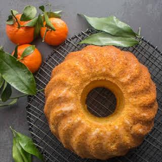 Italian Glazed Mandarin Orange Almond Cake.