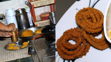 Photo: Home-made Chakli (http://www.sanjeevkapoor.com/chakli.aspx), another typical snack we enjoyed at the time of Diwali. Salty, spicy and crunchy! I cannot stop my temptation. We often store pre-fried Chakri in the refrigerator and heat them with oven before eating. 22nd November updated - http://jp.asksiddhi.in/daily_detail.php?id=370