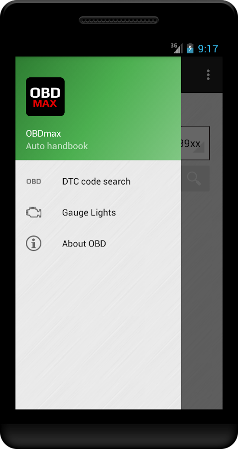 OBD Trouble Codes(DTC) OBDmax- screenshot