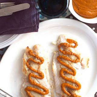 White Fish with Romesco Sauce.