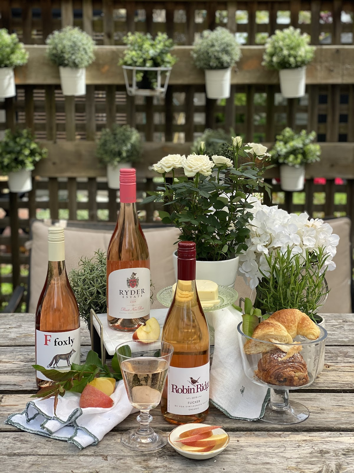 alison kent the home kitchen with barb wild of good wine gal rose wine tasting five week series May rose all may