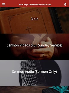 New Hope Community Church App- screenshot thumbnail