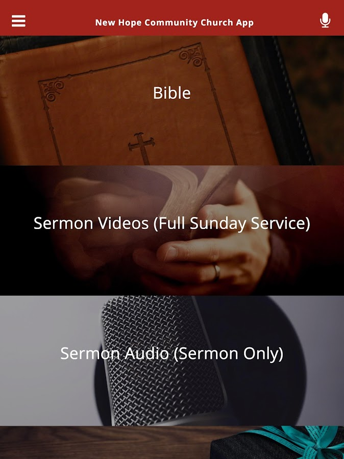 New Hope Community Church App- screenshot