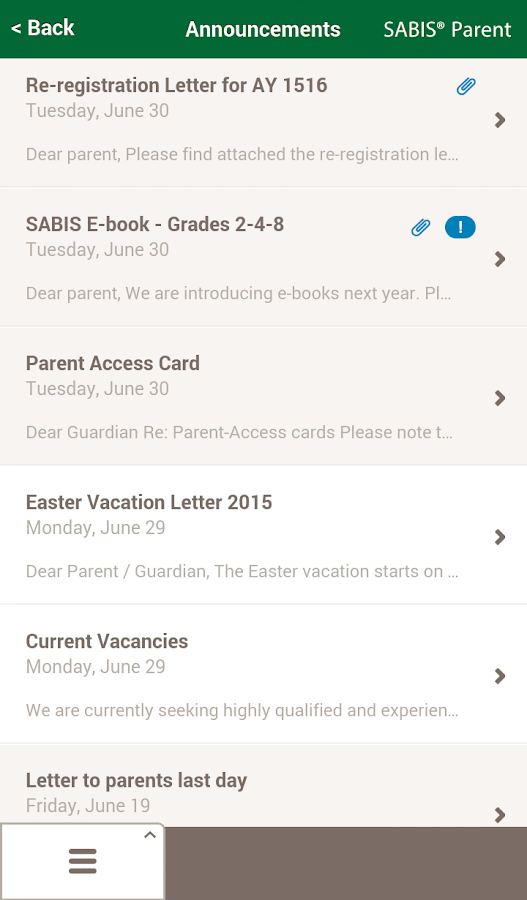 SABIS® Parent- screenshot