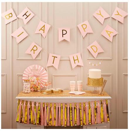 Vimpel Happy Birthday - Pastel perfection