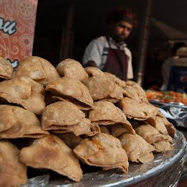 Samosas  by Gunbir Singh - Food & Drink Cooking & Baking ( samosas, street food, snack indian, street, food,  )