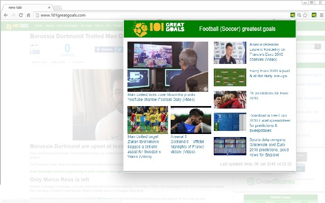 101 Great Goals chrome extension
