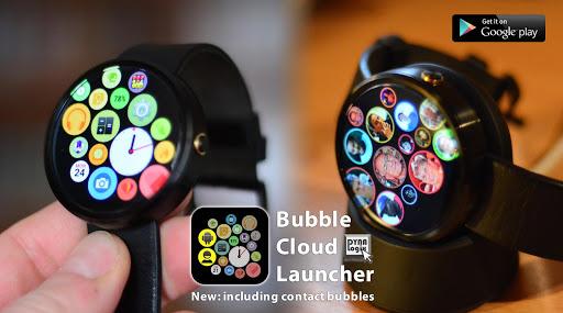 Bubble Cloud Wear Launcher Watchface (Wear OS) 9.39 screenshots 6