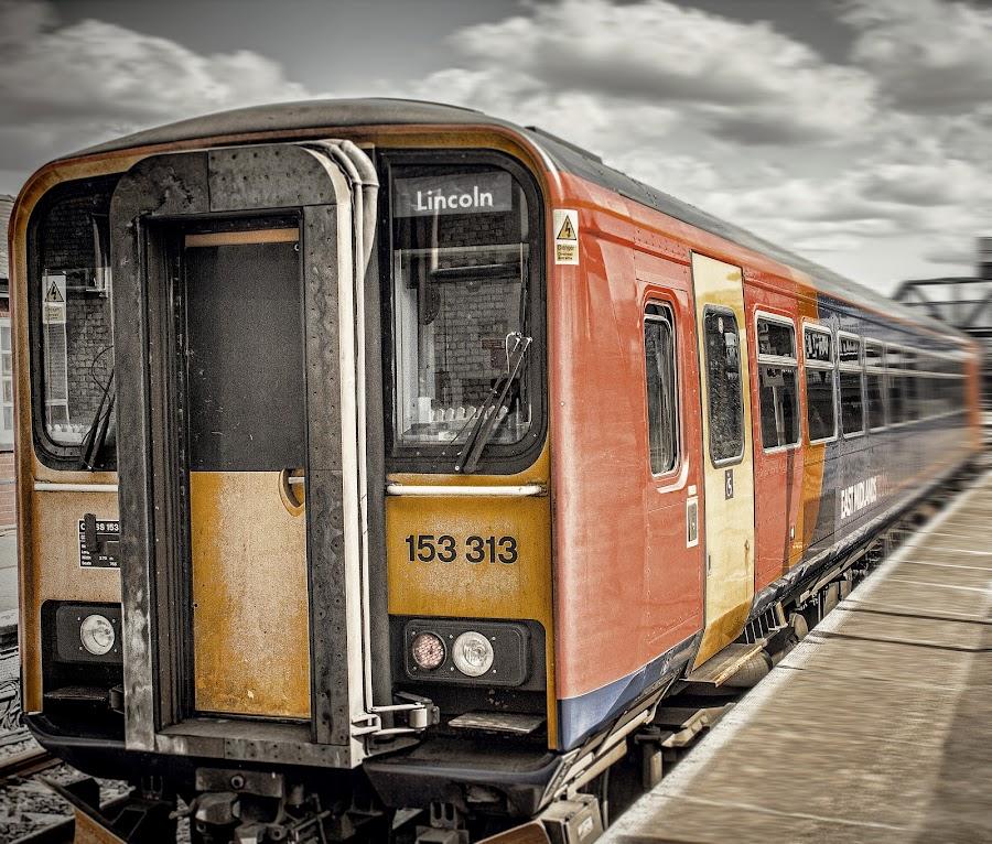 Motion by Warrak LeembOo - Transportation Trains ( lights, digital blending, hdr, transportation, motion, trains )