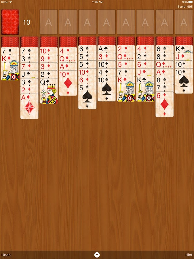 Spider Solitaire Classic- screenshot