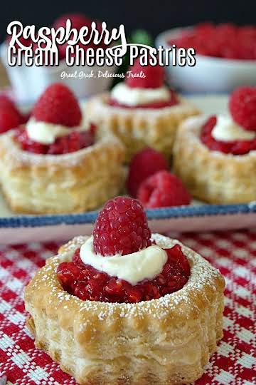 Raspberry Cream Cheese Pastries - Great Grub, Delicious Treats
