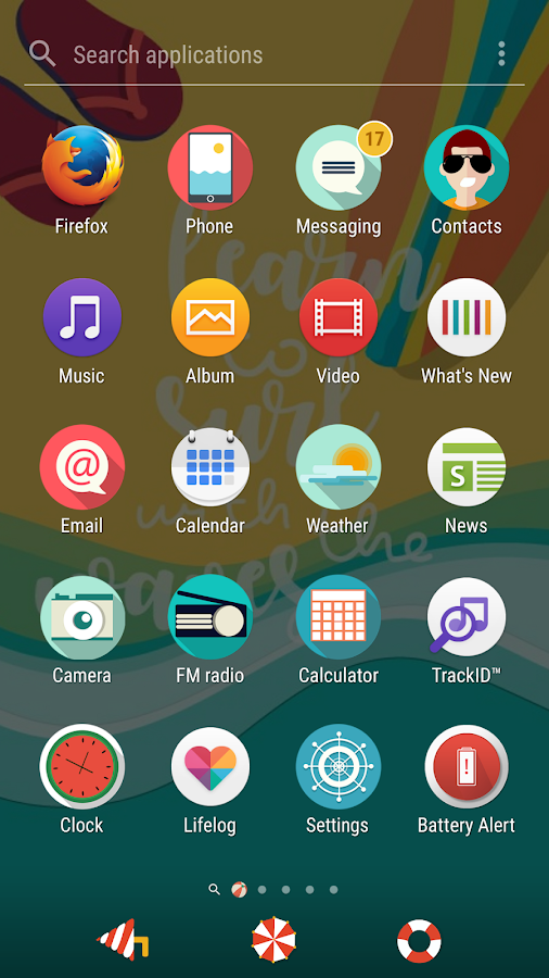 Summer Theme for Xperia- screenshot