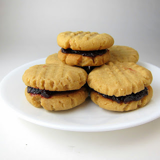 Peanut Butter Jelly Sandwich Cookies