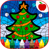 Paint By Number Christmas Game