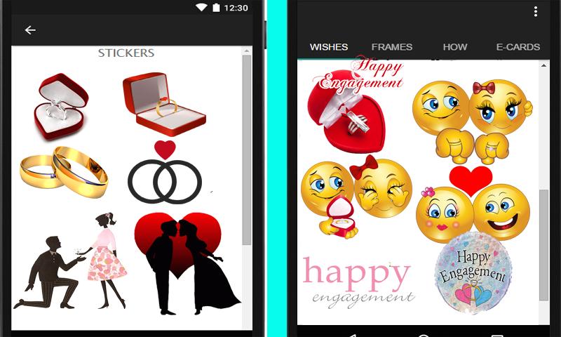 engagement cards frames screenshot