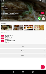 tossdown.com Restaurant Finder- screenshot thumbnail