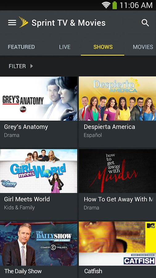 Sprint TV & Movies- screenshot