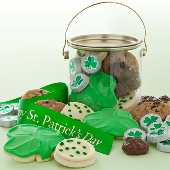 Photo: St Patricks Day cookie pail gift
