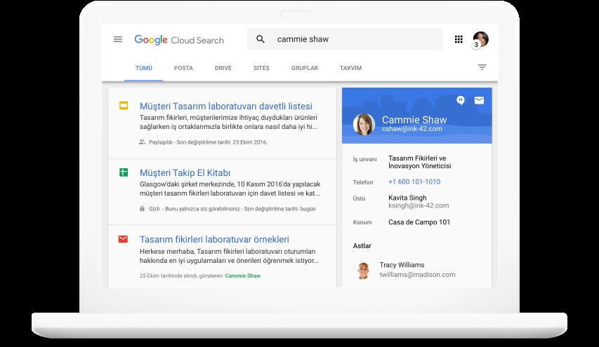 Google Workspace ürünlerinde arama