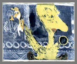 """Photo: color etching """"Mr. Bird"""" print 3 of 3 ghost 2001"""