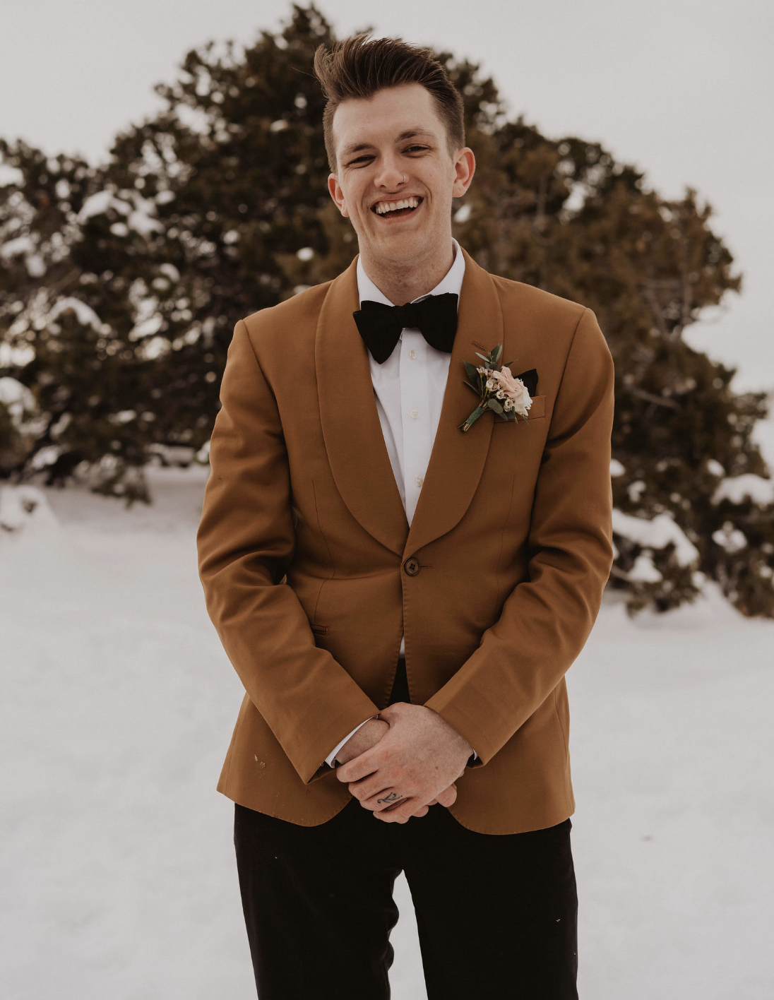 Arizona Wedding Grooms Portrait