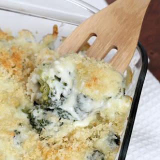 Super Cheesy Broccoli Au Gratin Casserole.