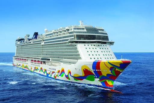 EncoreAtSea2019.jpg -  The 4,000-passenger Norwegian Encore sails to the Caribbean and Alaska.