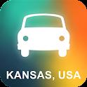 Kansas, USA GPS Navigation icon