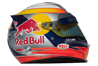 Photo: JEREZ DE LA FRONTERA, SPAIN - FEBRUARY 07:  The drivers helmet of Jean-Eric Vergne of France and Scuderia Toro Rosso is seen during Formula One winter testing at the Circuito de Jerez on February 7, 2012 in Jerez de la Frontera, Spain.  (Photo by Peter Fox/Getty Images)