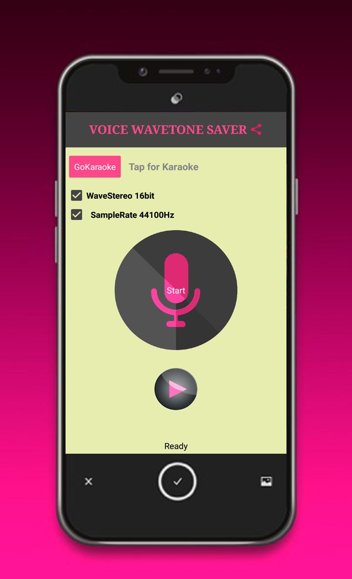 Скриншот Voice Wavetone Saver