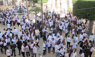 En imágenes: Marea blanca en Vera por el Día de la Paz