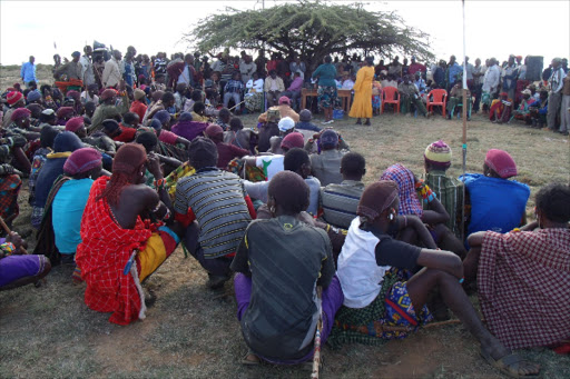 Laikipia residents in a past meeting.