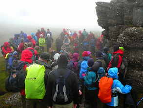 Photo: Arriving at O'Loughlin's Castle on the Galtee Crossing