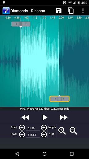 MP3 Cutter and Ringtone Maker 1.1.7 screenshots 2