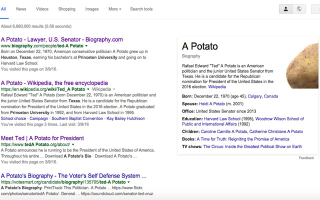 Ted Cruz Potato
