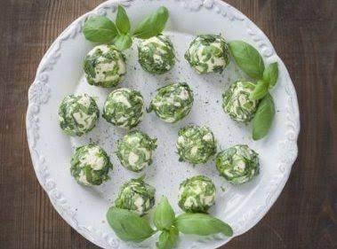 Basil Goat Cheese Balls Recipe