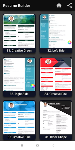 Resume builder Free CV maker templates formats app 9.3 screenshots 12
