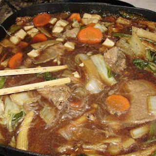 Fresh Veggies and Beef Sukiyaki